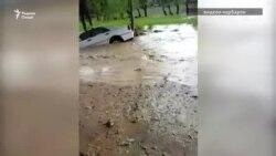 Селевой поток обрушился на село Бустон Вахшского района