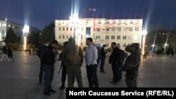 ХIинжа-ГIалара Ленинан майда, кхузахь гулбала дагахь хиллера Навальный Алексейгахьа митингхой