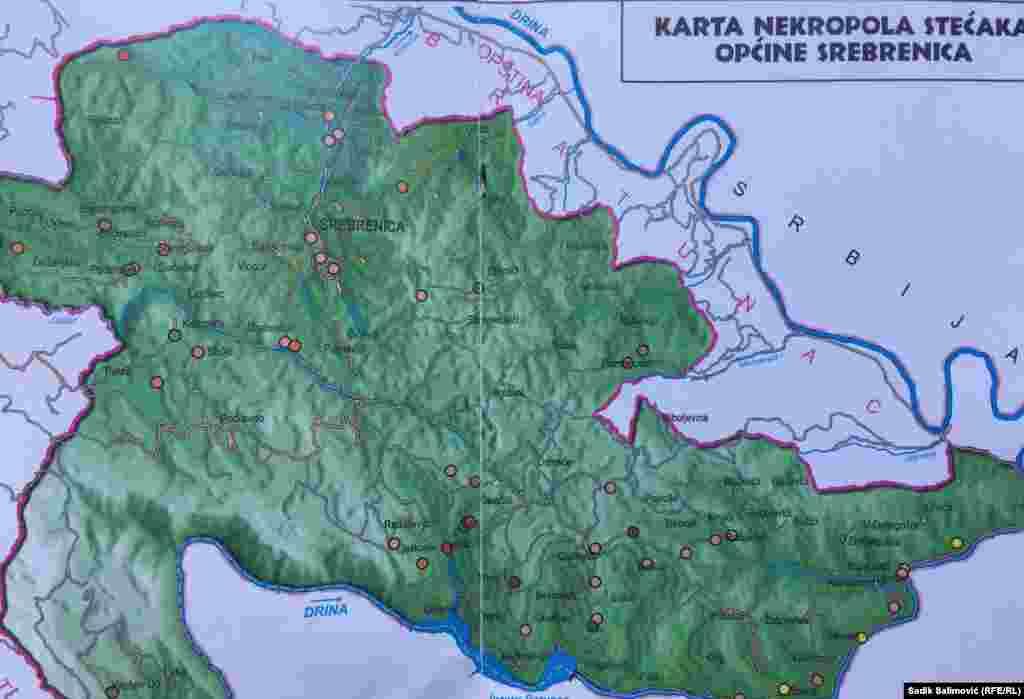 Turistička organizacija Srebrenica uradila je kartu stećaka na opštini Srebrenica. Registrovano je 50 lokacija na kojima je otkriveno oko 850 stećaka.