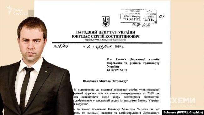 Депутат Іонушас відправив два листи до голови Держслужби морського та річкового транспорту