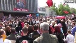 В Севастополе праздничный парад прошел без Путина