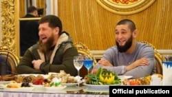 Рамзан Кадыров и Хамзат Чимаев в Грозном
