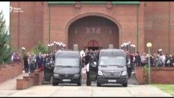 Прощание с погибшими в Ницце казахстанцами