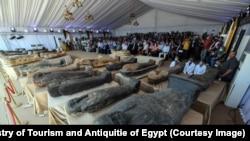 دا لرغوني آثار د مصر پخوانۍ پلازمېنې میمفیس ته نږدې په یو لرغونې هدیره کې موندل شوې دي.