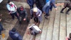 Украінскі суд даў жанчыне 1,5 году турмы за зьбіваньне майданаўца