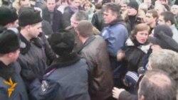 Сутички з міліцією на Майдані