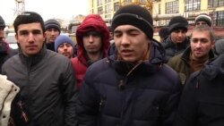 Протест строителей московского метро