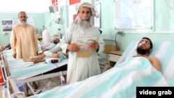 Kandahar residents being treated at the city's main hospital.