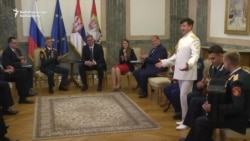 Serbian President Receives Red Army Choir In Belgrade