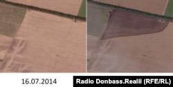 У проміжку між знімками, а саме 17 липня був збитий пасажирський літак
