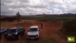 Russian Helicopter 'Mistakenly Fires' At Vehicles During War Games