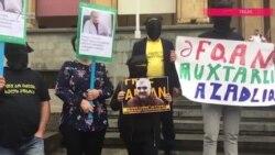 Tbilisidə jurnalist Əfqan Muxtarlıya azadlıq tələbi ilə aksiya keçirilib