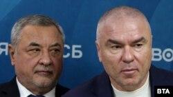 Веселин Марешки (вдясно) и новият му политически съюзник Валери Симеонов
