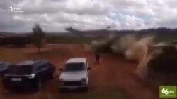 ЗМІ Росії: на навчаннях вертоліт обстріляв глядачів (відео)