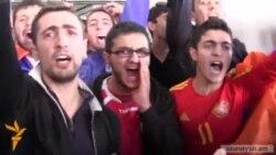 Հայ երկրպագուները պայթուցիկներով դիմավորեցին Բուլղարիայի հավաքականին