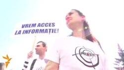 Marșul solidarităţii presei la Chișinău