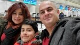 Shahin Moghadam (right) lost his wife, Shakiba Feghahati, and his son, Rosstin, in the airliner crash on January 8, 2020.
