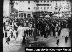 Demonstracije povodom odbacivanja sporazuma o pristupanju Jugoslavije Trojnom paktu, Beograd 27. marta 1941.