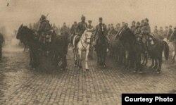 Armata germană în București, 1916. Sursa: Expoziția Marele Război, 1914-1918, Muzeul Național de Istoie a României.