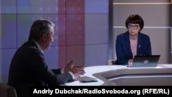 Олександр Ткаченко та ведуча програми Інна Кузнецова