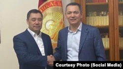 Садыр Жапаров и Омурбек Бабанов.