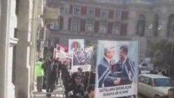 Iran səfirliyinin qarşısında aksiya.