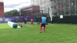 جریان آخرین تمرین تیم کریکت پیش از بازی با انگلستان