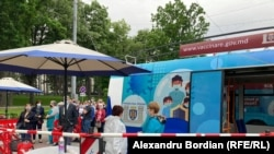Lansarea punctelor mobile de vaccinare la Chișinău, miercuri, 28 mai 2021.