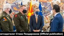 Стево Пендаровски и генерал-мајор Нејт, 19 август 2021