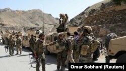 تصویری از نیروهای امنیتی افغانستان