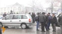 Состояние дороги Душанбе-Худжанд после последнего снегопада
