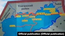 Кош-Агач районунун картасы.