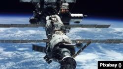A Nemzetközi Űrállomás.