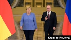 Германската канцеларка Ангела Меркел и рускиот претседател Владимир Путин