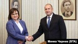 В началото на май Корнелия Нинова отново върна мандата на президента Румен Радев.