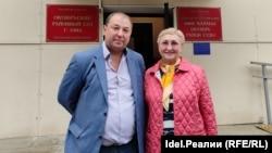 Ильмира Бикбаева и адвокат Дмитрий Казаков