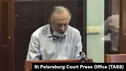 Oleg Sokolov attends a court hearing in St. Petersburg on June 15.