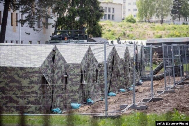 Лагерь для мигрантов недалеко от литовско-белорусской границы