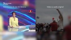 Cum a falsificat televizunea publică din Belarus un miting al opoziției