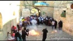 İsrail əsgərləri fələstinliləri səs bombaları ilə dağıdıblar