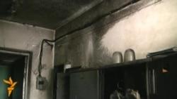 В Октябрском райакимиате Бишкека произошел пожар