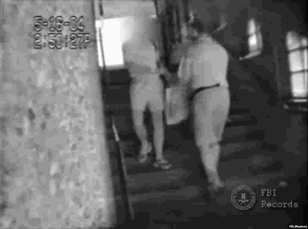 The FBI released a 2004 video that showed Russian spy ringleader Pavel Kapustin receiving a shopping bag full of cash from an official at the Russian Mission. The FBI said Metsos was the paymaster for the ring of Russian spies who tried to meld into American society in a bid to get close to power brokers and learn secrets. But the FBI said no classified information was stolen. Metsos was the 11th spy in the network and was arrested in Cyprus.