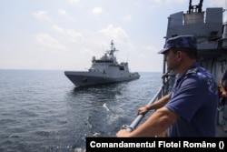 Flota Română participă la exercițiile NATO din Marea Neagră, exerciții conduse de navele performante ale Marinei Marii Britaniei sau ale Marinei Statelor Unite