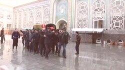 Ҷанозаи модари Ҳоҷӣ Мирзо дар Душанбе