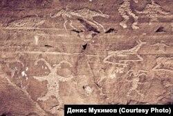 Писаница на горе Куня, Хакасия
