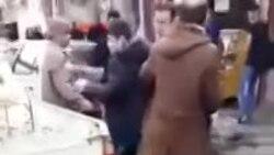 حمله مامور سد معبر شهرداری به یک زن دستفروش