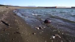 Обміління, сміття і рибалки: Сімферопольське водосховище після безсніжної зими (відео)