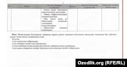 Фотокопия документа, отправленного в редакцию «Озодлика».
