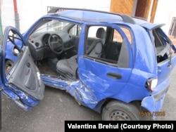 Matizul Valentinei Brehui după accident