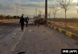 Az IRIB iráni állami tévé egyik felvétele a támadás kapcsán, 2020. november 27-én.